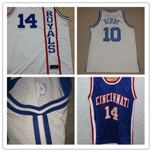 #14 Oscar ROBERTSON Cincinatti Royals Vintage 4 Chris Webber Throwback Basketball Jerseys,Retro Men's Customized Embroidery and