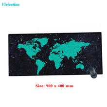 Hottest Unique Map Printing Rubber Non-slip Computer Desk Keyboard Mouse Mat High Quality Looking Edge Gaming Mousepad(China)