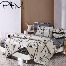 P&M 6pcs Bedding sets Pillowcase fitted sheet Duvet Cover set 100% cotton king queen full twin size bedclothes linens(China)