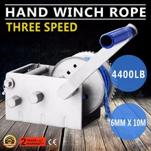 SW4400R/2000kg Hand Winch Dyneema Rope 3speed- Boat Car Marine Trailer Atlantic Jarrett(China)