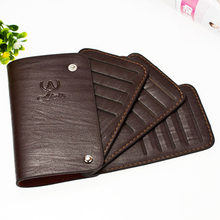 Unique Design Fashion Creditcard Holder Solid Cardholder Unisex Credit ID Card Holder PU Leather(China)