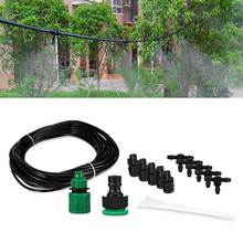 10m Garden Hose 10 Dripper Drip Irrigation System DIY Automatic Watering Kits Micro Drip Watering Systems Adjustable Dripper
