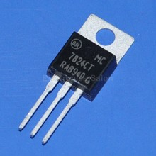 ( 50 pcs/lot ) ON-Semi 7824 IC, Positive 24V Voltage Regulator, MC7824CT.(China)