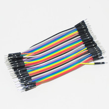 40pcs Jumper Cable Kit Pack Dupont Wire Male to Male Jumper Cable Dupont Jumper 10cm 2.54mm Male-Male 1P Breadboard PCB DIY Kit
