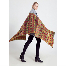 Cashmere Scarf women Poncho Duplex Winter Knitted Cashmere Shawls Scarves Leopard Pashmina Shawls scarf  cachecol