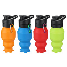Portable Sport Bottle Outdoor Hiking Cycling Picnic Jug Foldable Kettle Water Jug Innovative Silicone collapsible Water Bottle