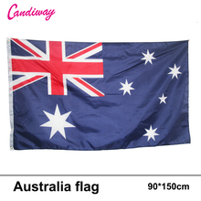 oriflamme 90x150mm Wave AUSTRALIA 3x5 Feet Super-Poly Indoor/Outdoor Australian FLAG Country Banner Christmas's gifts