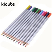 Kicute 12pcs/lot Newest Advanced HB Colored Pencil for Drawing Artist Water Soluble Watercolor Pencil Set Box School Supplies(China)