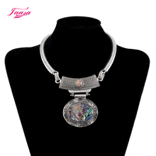 New Design romantic Style Jewelry Choker silver Plated Alloy Statement shell Necklace For Women(China)