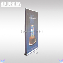 80*200cm 5PCS Double Side Aluminum Retractable Roll Up Banner,Trade Show Booth Advertising Display,Exhibition Promotional Stand(China)