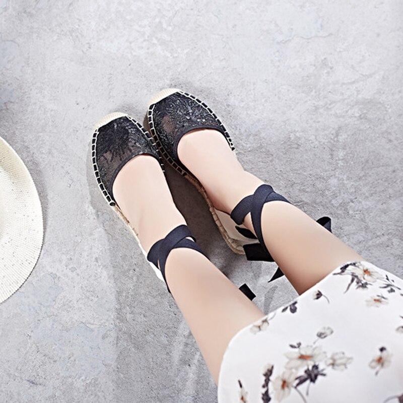 Canvas Summer Women's Espadrille Sandals Flats Ankle Strap Hemp Bottom Fisherman Women Shoes For 2018 SpringAutumn Women Loafer (9)