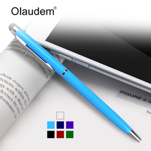 Stylus Touch Pen 2 in 1 Styli Ballpoint Pens Touch Screen Capacitive Pen For iPhone Samsung Tablet Touch Screen Devices TP718(China)