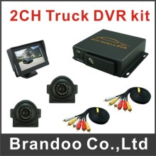 2CH Car Security Mini DVR SD Video record,for car,bus,taxi used
