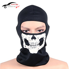 Balaclava Motorcycle CS Ghost Skull Hood Full Face Mask Ski Sport Helmet Snood Biker Motorcycle Face Mask Neck Scarf Headwear(China)