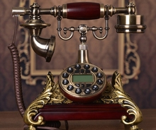 Fashion antique telephone rustic vintage telephone landline phone/Blue Backlight/Hands Free/Caller ID