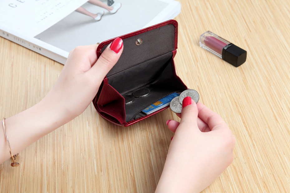 VICKAWEB Mini Wallet Women Genuine Leather Wallets Fashion Alligator Hasp Short Wallet Female Small Woman Wallets And Purses-IMG_6474