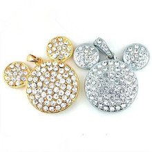 real capacity Mickey's head crystal necklace model 8GB 16GB 32GB usb 2.0 model usb flash disk usb flash drive S342 DD(China)
