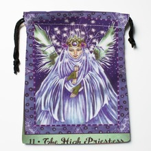 Best Tarot Drawstring Bags Custom Storage Printed Receive Bag Compression Type Bags Size 18X22cm Storage Bags(China)