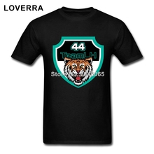 Cotton Jersey 44# Lewis Hamilton TShirt Man O-Neck Hip Hop Brand Clothing Short Sleeve Tees Shirts Men Fitness T-Shirt Homme(China)