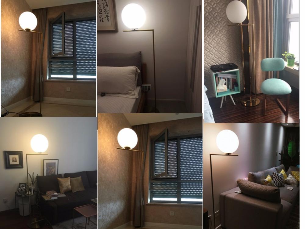 Modern LED Floor Lamp Floor Light Shade Glass Ball Standing Lamp for Bedroom Living Room Gold Designs (12)