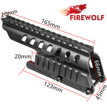 FIRE WOLF Tactical 20mm Double Picatinny Rail Mount System Fit For Remington 870 RM870 12 Ga. Scope(China)