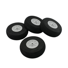 Buy RC Model Plane Aircraft 75mm Dia sponge Wheel Replacement Black Gray 4 Pieces for $4.08 in AliExpress store