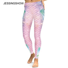 Buy Sexy Womens Workout Leggings Joggers Fitness Legging High Waist Elastic Sporting Leggins Jegging Fish Scales Print Leggings for $9.05 in AliExpress store