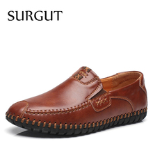 Buy SURGUT 2018 New Fashion Men's Cow Leather Shoes Men Slip Oxford Flats Summer Comfortable Handmade Moccasins Men Shoes for $28.90 in AliExpress store