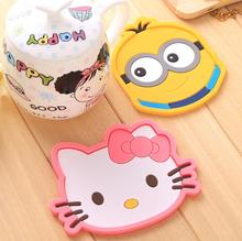 Creative cute silicone placemat hello kitty kitchen mat pads Mickey dining table coaster coffee cup bar mug placemats mats