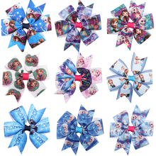 Lovely hot Cartoon image Ribbon Wraped clip barrettes Children infant hairpins Cute bow shape Hair Accessories