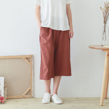 Women Lady Vintage Loose Long Cotton Linen Plus Size 2xl - 6xl Culottes Brocade Pants Dress Wide Leg Pant Trouser For shipping