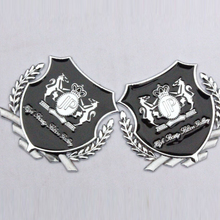 2PCS/LOT 3D Metal Super Cool Car Styling Car Decoration Car Accessories Creative Motorcycle Decorative Stickers