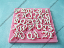 3D German Deutsch Letter Alphabet + Arabic Numerals Shapes Fondant Mold Silicone Sugar Craft Cake Decorating DIY Mold Tools(China)