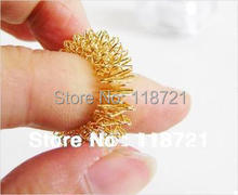 Hot Sale ! Post-Free Shipping 50pieces/lot Massager Finger Massager Ring Acupuncture Ring(China)