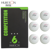 Huieson High Quality 3 Star Ping Pong Balls 40mm Diameter 2.9g Table Tennis Ball for Competition Training 6Pcs/Pack