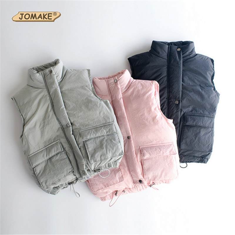 Solid Children Turtleneck Vest Winter Thick Down Vest Coat Fashion Style Single Breasted Outwear Casual Toddlers Clothing<br><br>Aliexpress