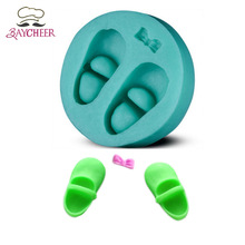 1PCS Silicone Turn Over Sugar Mould Cake Decorating Die Cake Baking Mold Shoe Shape Specialty & Novelty Cake Pans Bakeware