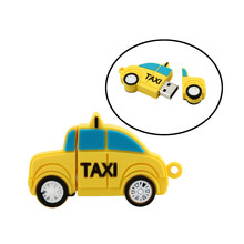 Taxi Pen drive card USB Flash Drive hot sale usb flash Taxi 4GB 8GB 16GB 32G usb2.0 usb stick yellow card boy gift(China)