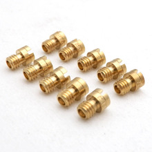 10X Motorcycle M4 Main Jet 4mm for GY6 50cc 139QMB Scooter Keihin Carb  carburetor CVK24~26 PZ19  Round Head injectors Nozzle