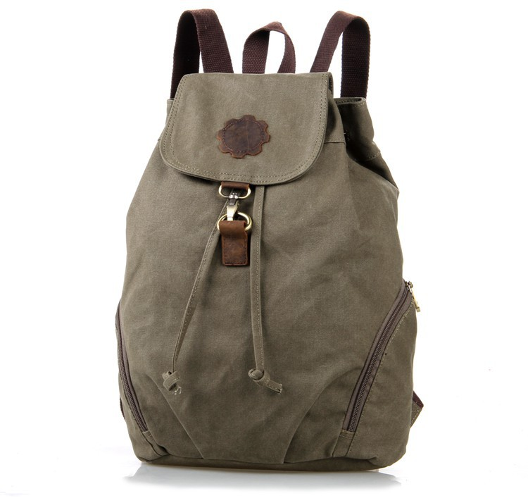 Small Newest Canvas and Leather Backpack Women Schoolbag 9008N<br>
