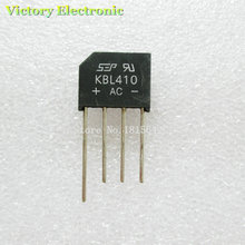 New 5PCS/Lot KBL410 KBL-410 4A 1000V Single Phases Diode Rectifier Bridge Wholesale Electronic