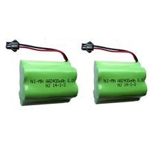 2PCS 6v battery 2400mah ni-mh bateria 6v nimh battery pack 6v size aa rechargeable ni mh for lighting rc car toy electric tools