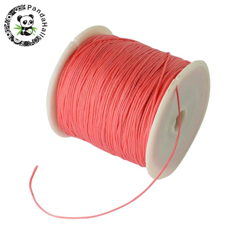 0.8mm 90m/roll Nylon Thread Cord For Bracelets Beading Necklace Jewelry DIY Accessories Making 18