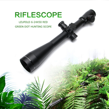 Leupold MARK 4 6-24X50 M1 Optics Riflescope Long Eye Relief Rifle Scope Red and Green Dot Fiber Reticle Sight For Rifle Hunting