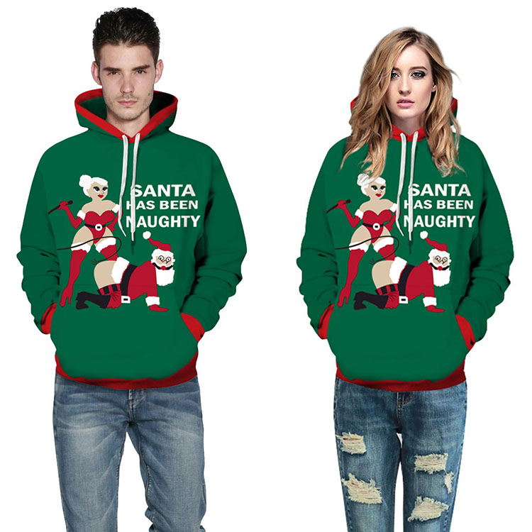 Aolamegs Men Women Chirstmas series Hoodies Couples Hooded Sweatshirts Funny 3D printing Pullovers Christmas Casual Tops Clothes (2)