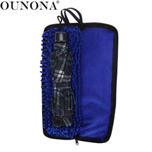 OUNONA Water-Absorbent Umbrella Bag Case Umbrella Covers Bag Organizer Zippered Closure Portable Pouch