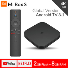 2018 Original Xiao mi mi CAIXA de TV S Inteligente 4 k Ultra HD 2g 8g Android 8.1 WI-FI google Lançar Netflix Media Player IPTV Set top Box 3(China)