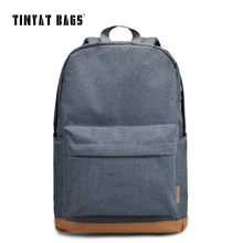TINYAT Men's 15 inch laptop backpack computer school backpacks rucksacks leisure for teenage boys mochila male Escolar Gray 1101(China)