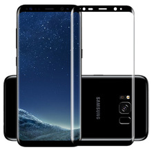 Top Quality 9H Hard 2.5D Arc Edge Full Screen Protection Tempered Glass Protector Film On For Samsung Galaxy S8/S8 Plus(China)