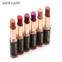 SACE LADY 18 Colors Matte Lipstick Long Lasting Waterproof Lips Makeup Easy to Wear Nude Cosmetic Wholesale Beauty Make Up Brand(China)